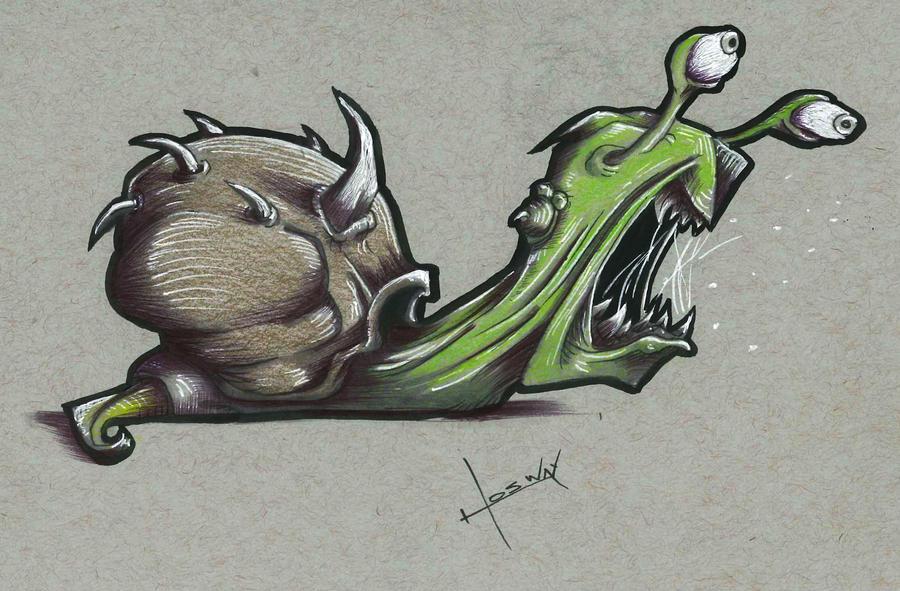 Grisly Snail by JosueMariscal