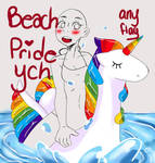 Beach Pride! YCH (open) by XCappuccinoExpressX