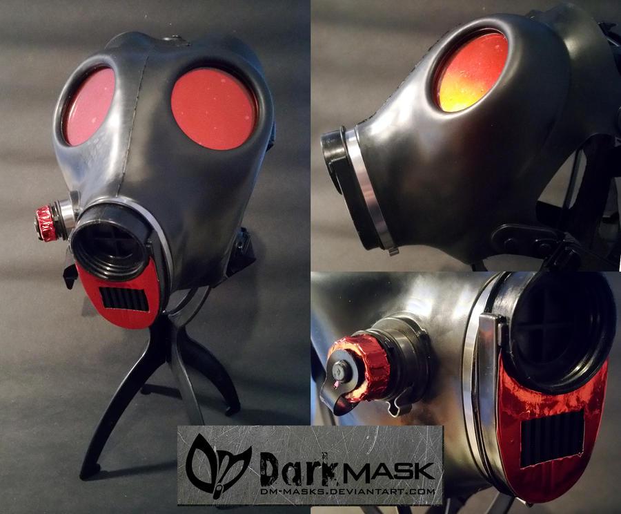 Red parts Isreali Gasmask by Dm-masks