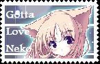 Gotta Love Neko Stamp by XSilverXAnimeXGirlX