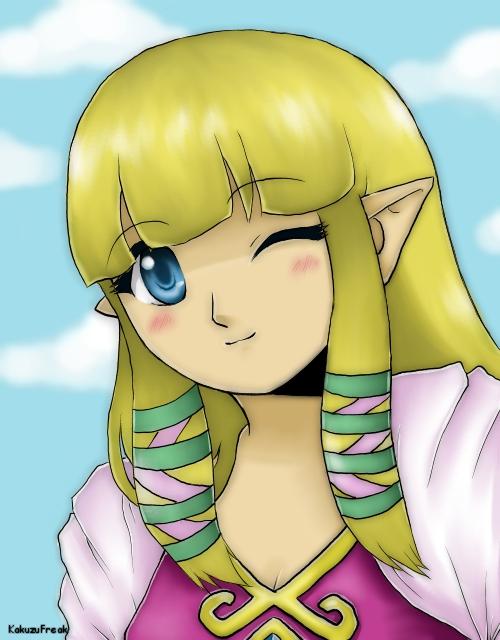 Skyward Sword Zelda by KakuzuFreak