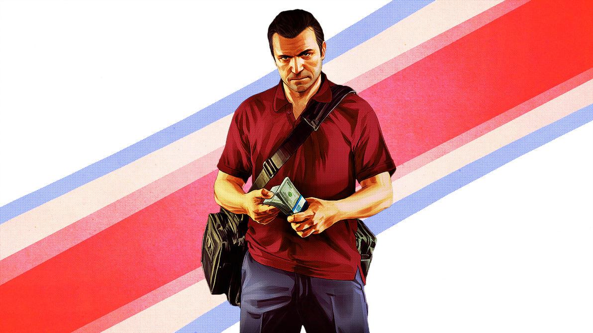 Grand Theft Auto V Wallpaper 1920x1080 Michael By BlackLotusXX