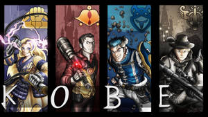 RWBY OC Team KOBE!!!  Commission Request #6 by Corazon-Alro4