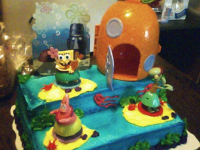 Easy Homemade Spongebob Cake