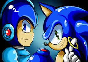 Blue Duo by 8-Bit-Britt
