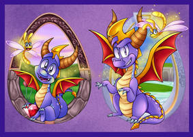 Spyro 1 and 2 Tribute by 8-Bit-Britt