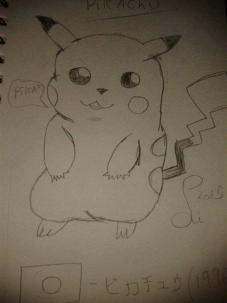An old drawing of Pikachu by Android-Liam