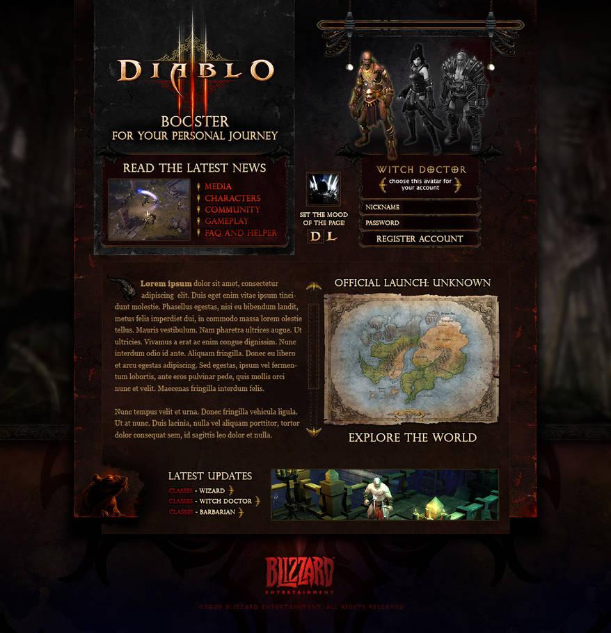 Diablo III FanSite Kit by efingo on DeviantArt