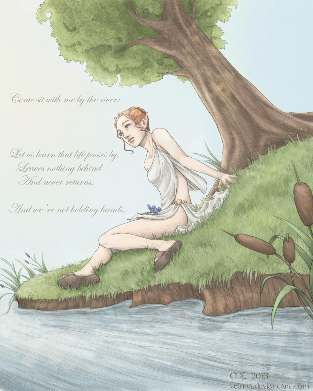 Come Sit With Me By The River by Velnna