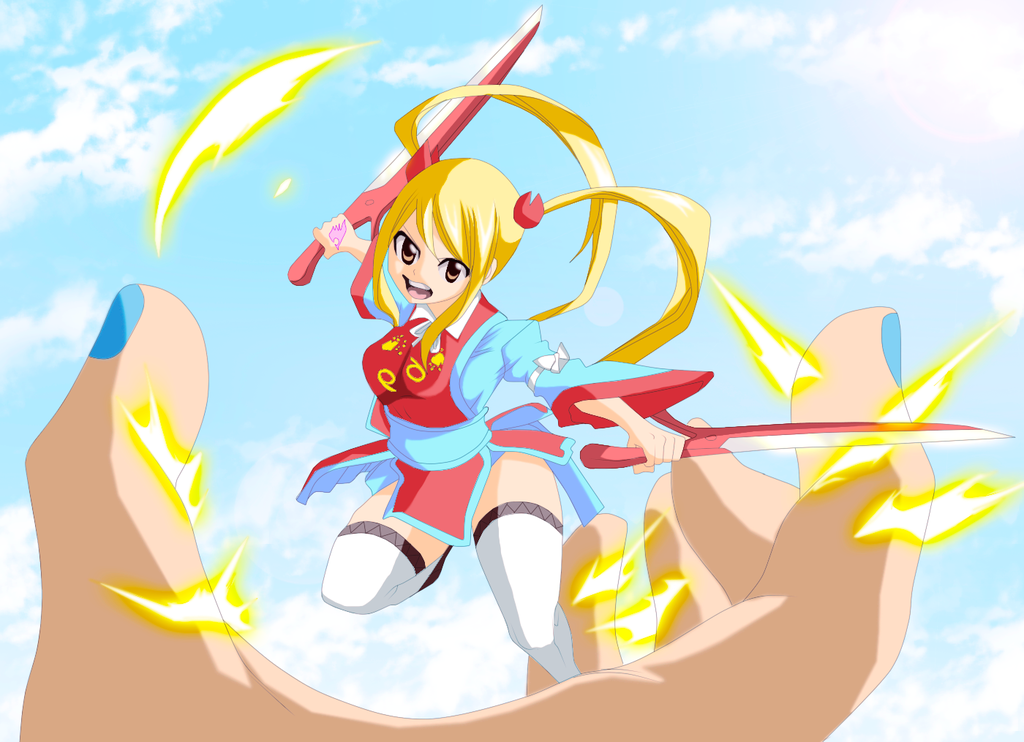 Lucy Heartfilia Summons her Spirits on DB by allcreation104