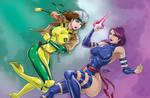Rogue Vs. Psylocke by nUedle