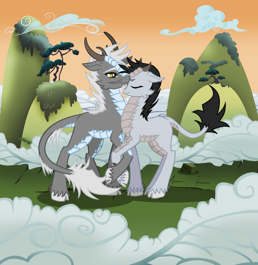 Commission pony and dragon show commission