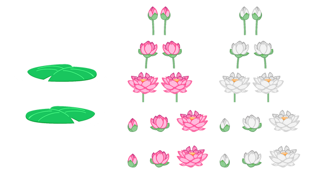 MLP Resource: Lotus Flowers and Lilypads