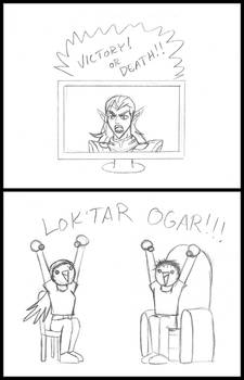 Sketching Silliness...Lotor: For the Horde!