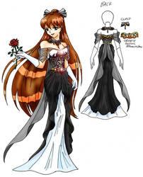 Dark Topaz Princess Dress by SaturnGrl