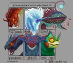 Sixfanarts with MHW monsters by Nissa-Traveler