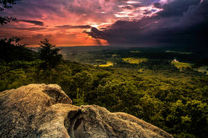 Sawnee Mountain Sunset by rctfan2