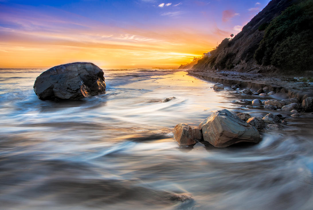 Arroyo Burro Beach sunset by rctfan2