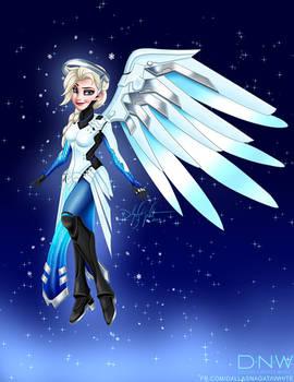 Overwatch Disney Princess Mashup - Elsa as Mercy