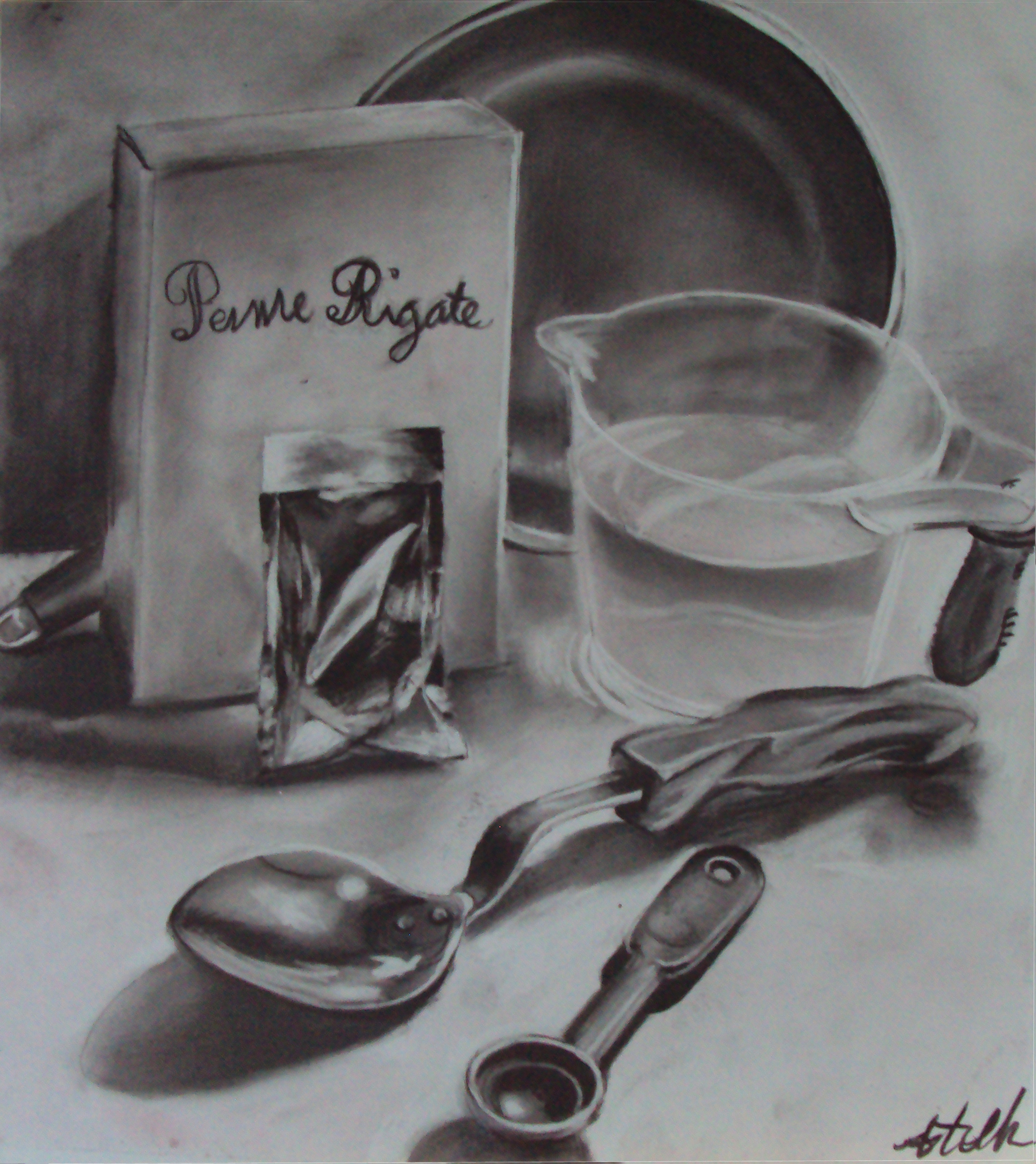 Kitchen Utensils Drawings Kitchen Utensils Still Life