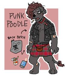 Punk Poodle Adoptable! [CLOSED] by sluggotron
