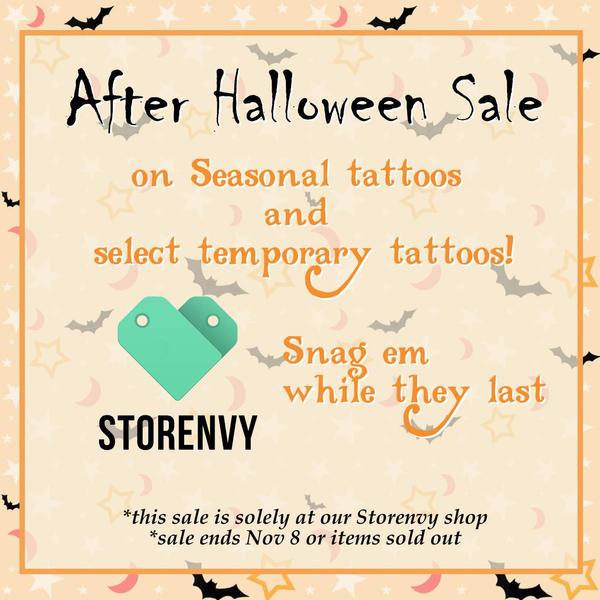 Cosplay Temporary Tattoo After Halloween Sale by Keropanda-DuckieC