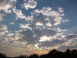 Skies over Adam Ondi Ahman by CalydaRose