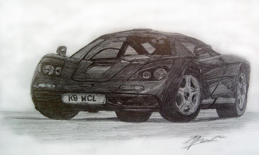 McLaren F1 Drawing by ThomasParker on DeviantArt