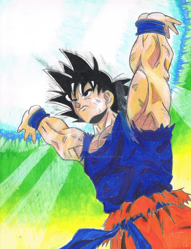 Goku Genkidama By Anime No Jutsu On Deviantart
