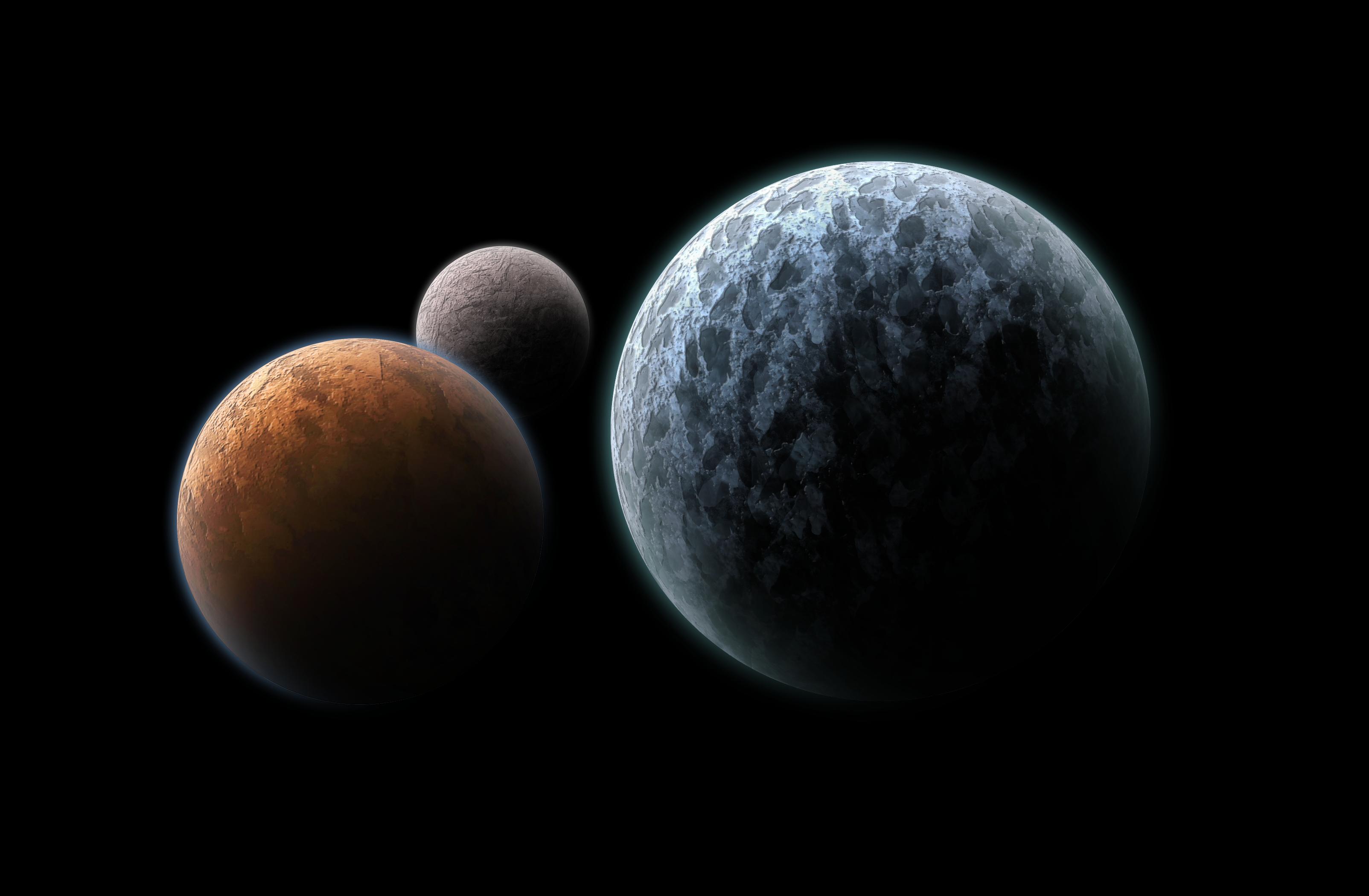 3 Planets by ENDESGA