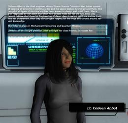 Bio - Lt. Colleen Abbot by KnightTek