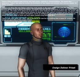 Bio - Ensign Dakner Priest by KnightTek