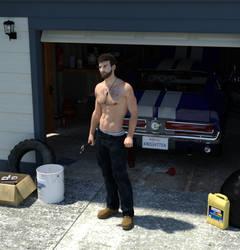 Working in the Garage by KnightTek