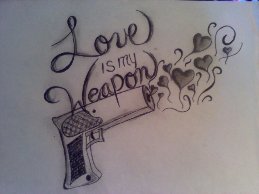 Love Is My Weapon Tattoo