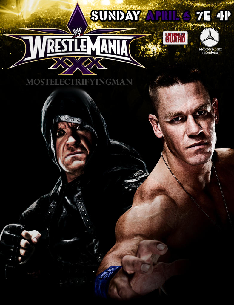 WWE WRESTLEMANIA 30 POSTER - Cena vs Undertaker by ...