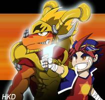 Gao Mikado and Drum Bunker Dragon by HiKazeDragon