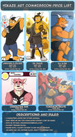 Hikaze Art Commission Price List 2017 by HiKazeDragon