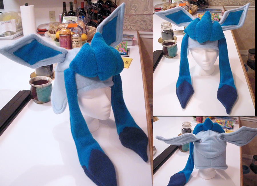 glaceon fleece hat by - photo #27