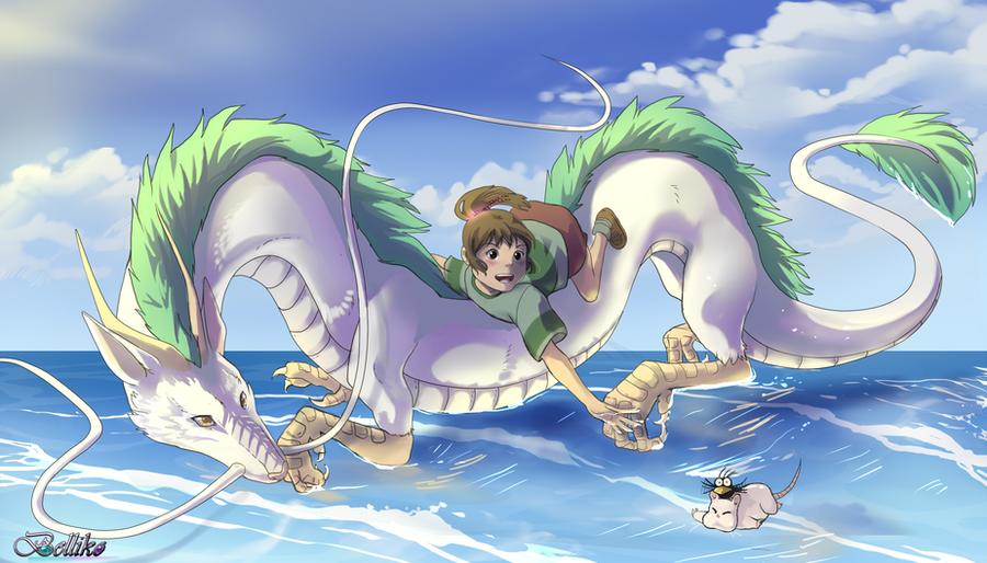 Chihiro's journey by Belliko-art