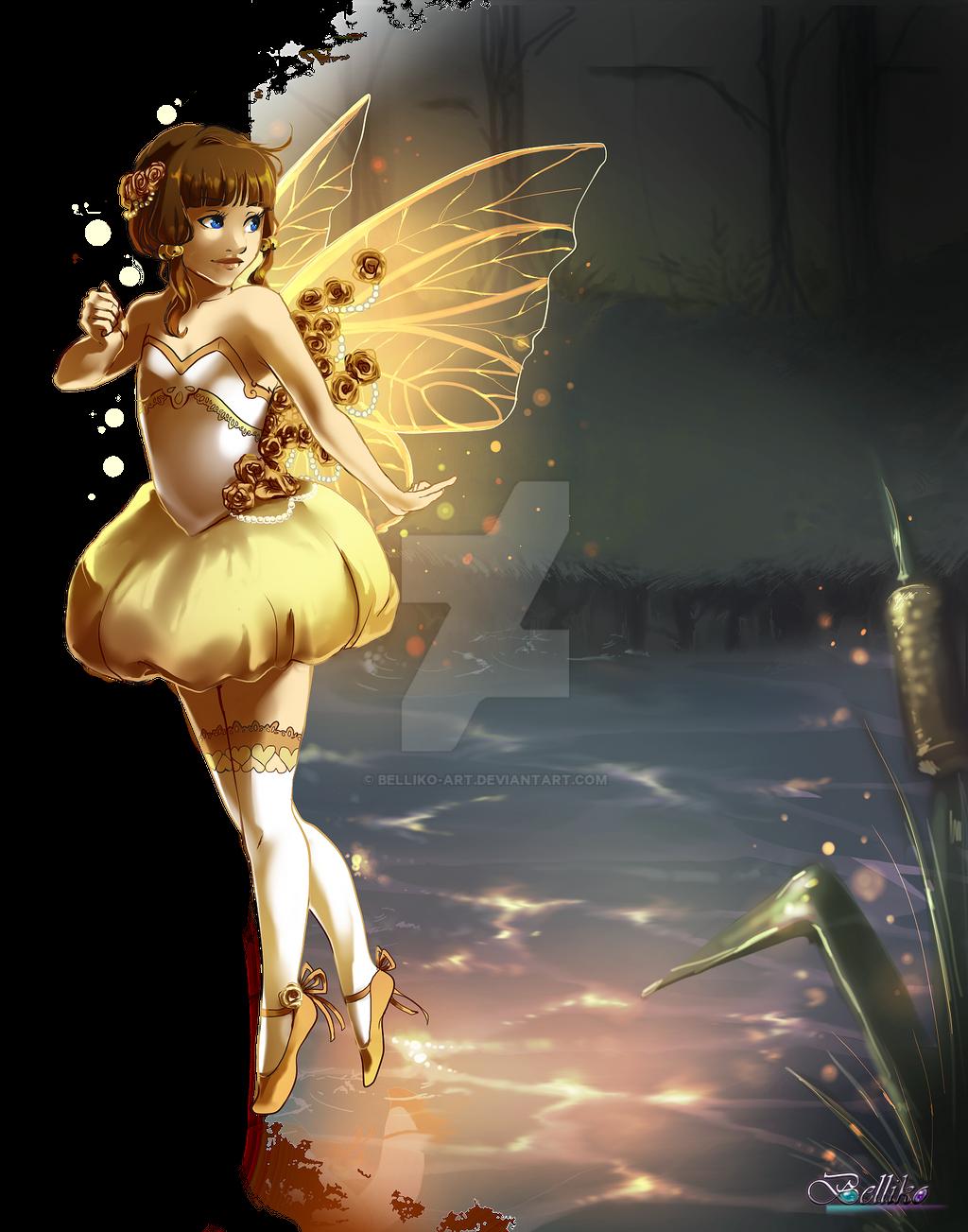 The golden faerie by Belliko-art