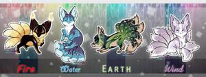 Elemental Kitsunes auction / (CLOSED)