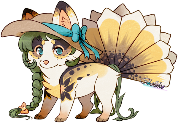 Sunflower Foxfan for xmaikowolfx by Belliko-art