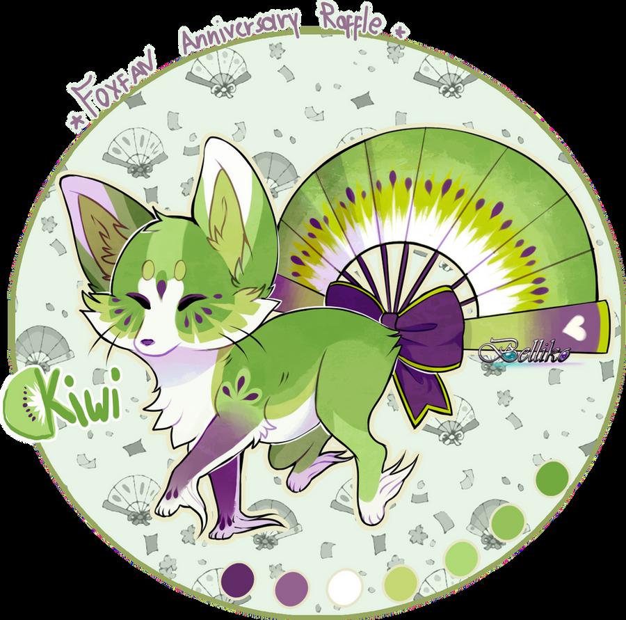 Kiwi Foxfan by Belliko-art