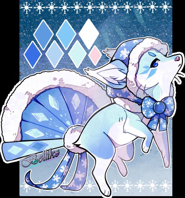 Ice Crystals Foxfan by Belliko-art