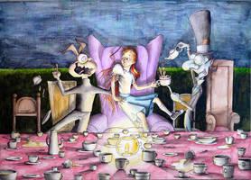 Alicia en la fiesta del te by pabloyungblut