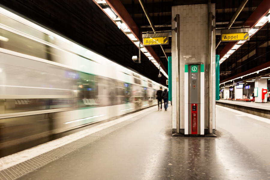 Fast train at the station by nadril83