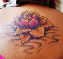 Lotus tattoo by Devikarawr