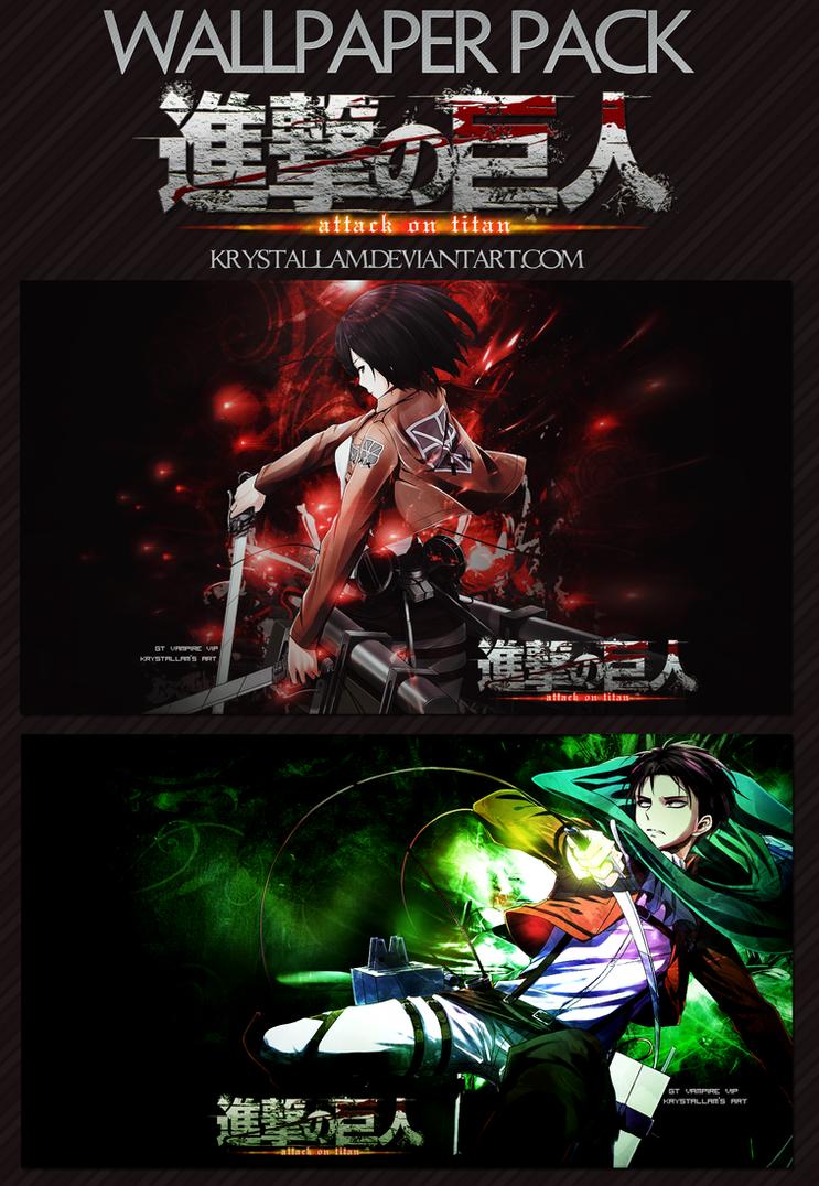 [Wallpaper Pack] Shingeki no Kyojin by KrystalLam