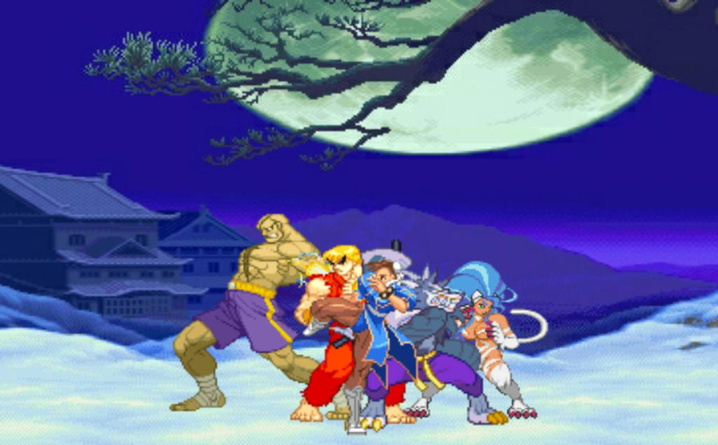 Street Fighter Vs Darkstalkers Protagonists By Guillaume101 On