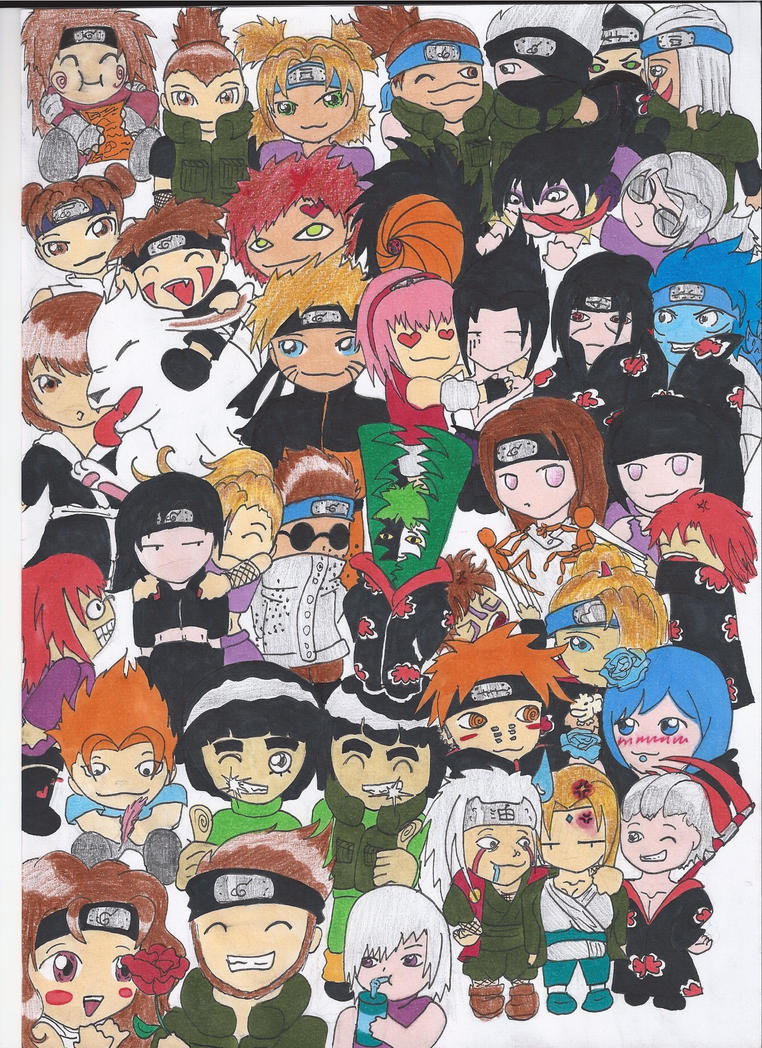 Naruto Characters Chibi By Untamed Shewolf